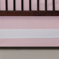 Oilo Band Crib Skirt - Blush