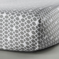 Oilo Diamond Crib Sheet - Stone
