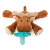 WubbaNub Plush Pacifier - Brown Moose