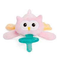 WubbaNub Plush Pacifier - Pink Owl