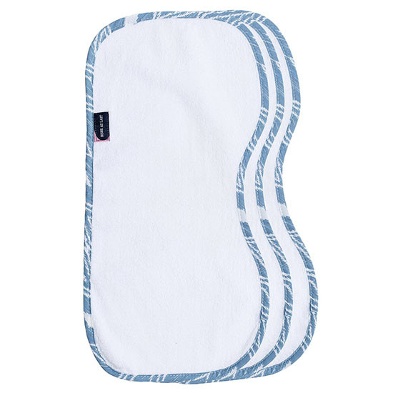 Bebe Au Lait Bebe au Lait 3-Pack Contoured Burp Cloth Set - Belize