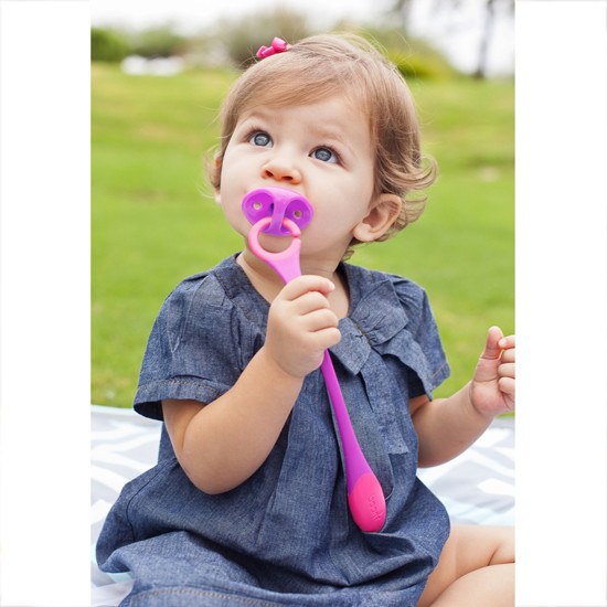 Boon Hitch Pacifier Teether - Magenta/Purple-2