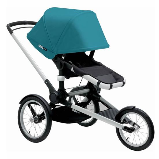 Bugaboo Runner Jogging Stroller Seat - Black/Petrol Blue -2