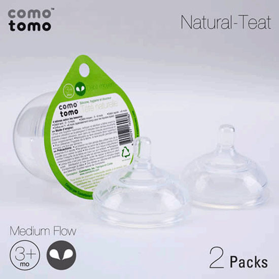 Comotomo Medium Flow Nipple Pack - 2 pack-2