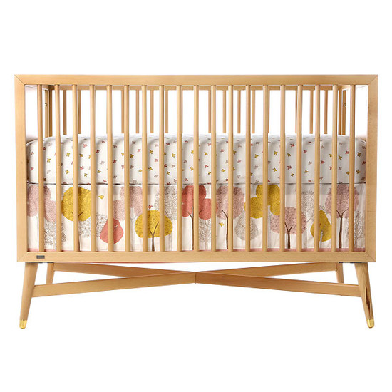 DwellStudio Swallow Fitted Crib Sheet-2