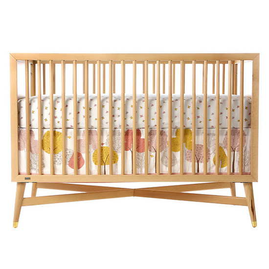 DwellStudio Treetops Canvas Crib Skirt-2