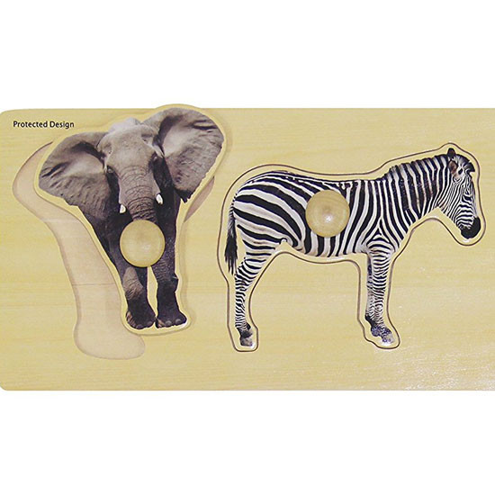 edushape Giant Puzzle - Wild Animals-2