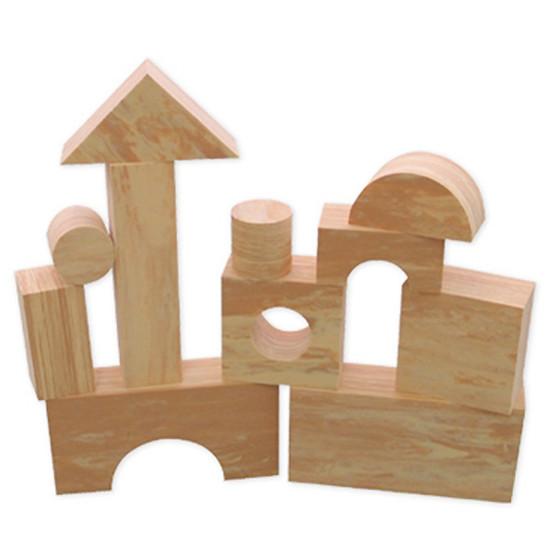 edushape Wood-Like-Soft Blocks - 30 in a box