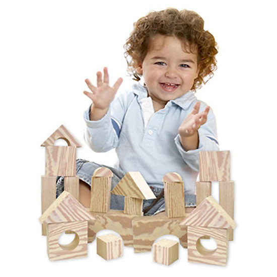 edushape Wood-Like-Soft Blocks - 30 in a box-2