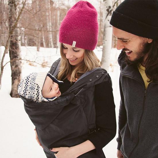 Ergo Baby Winter Weather Cover - Black-2