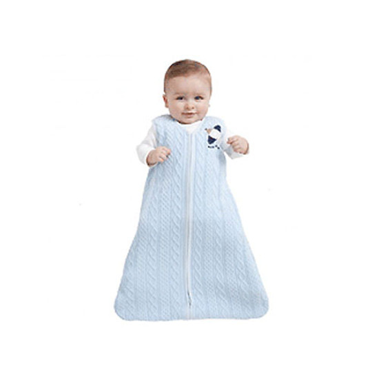 Halo Cotton Cable Sweater Knit SleepSack Wearable Blanket - Blue