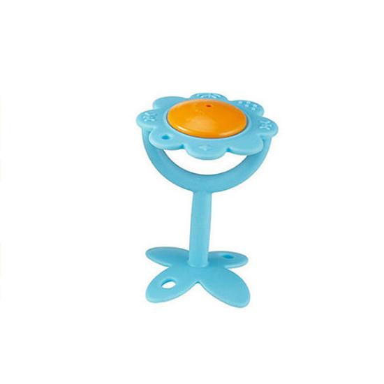 Innobaby EZ Grip Teether Flower Rattle - Blue