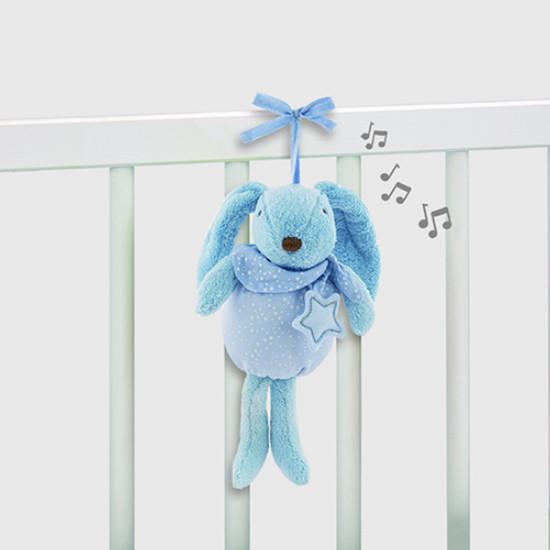 Pasito a Pasito Musical Plush Rabbit Baby Etoile - Blue