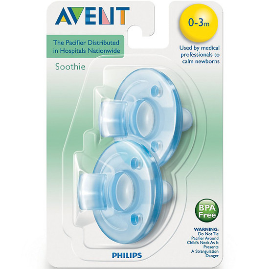 Philips Avent Soothie Pacifier - 0-3m - Blue / Blue-2