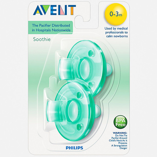 Philips Avent Soothie Pacifier - 0-3m - Green / Green-2