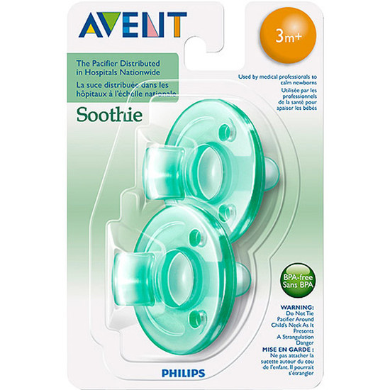 Philips Avent Soothie Pacifier - 3m+ - Green / Green-2