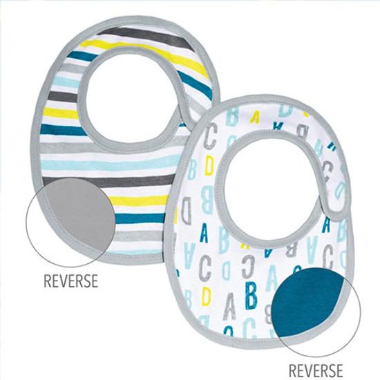Skip Hop ABC 123 Reversible Bib Set - Blue