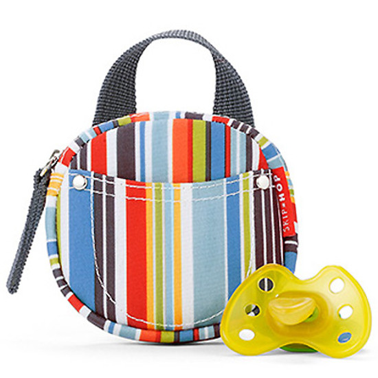 Skip Hop Pacifier Pocket - protected by Agion - Metro Stripe