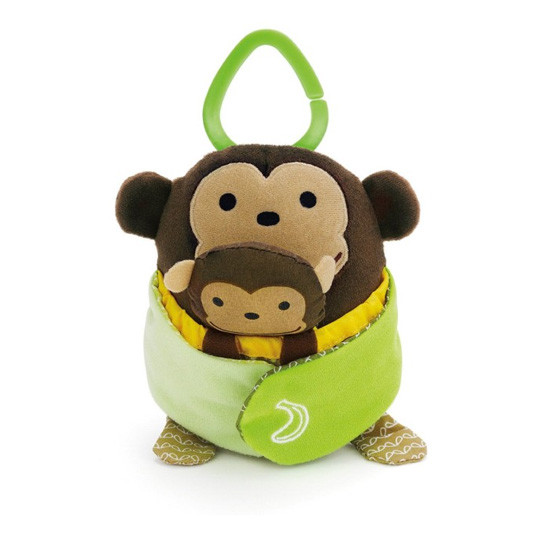 Skip Hop Treetop Friends Hug & Hide Monkey Activity Toy -2