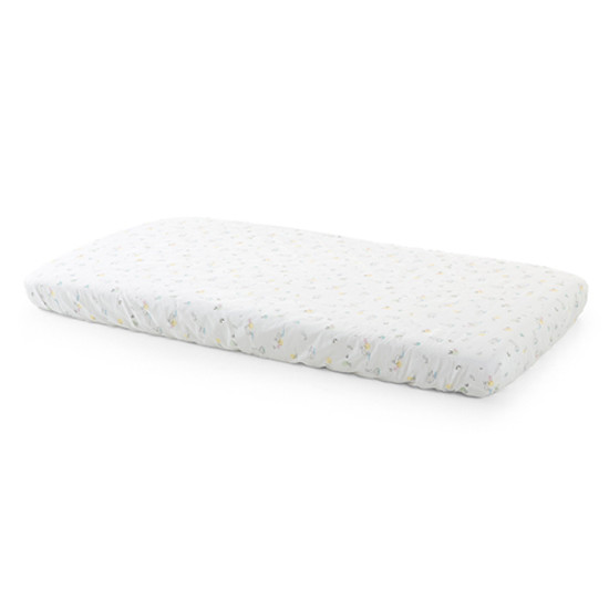 STOKKE Home Crib Fitted Sheet 2 Piece - Soft Rabbit/White