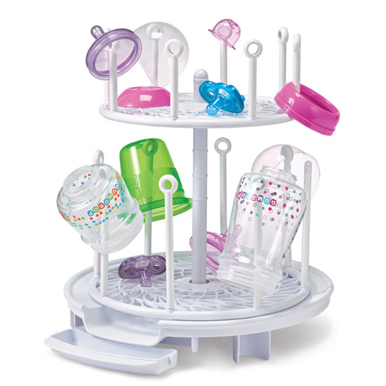 The First Years Spin Stack Drying Rack - White-2