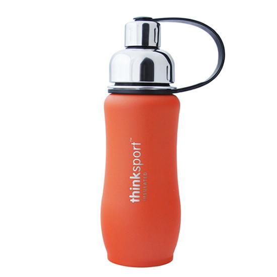 ThinkBaby thinksport Insulated Sports Bottle 12oz - Coated Orange