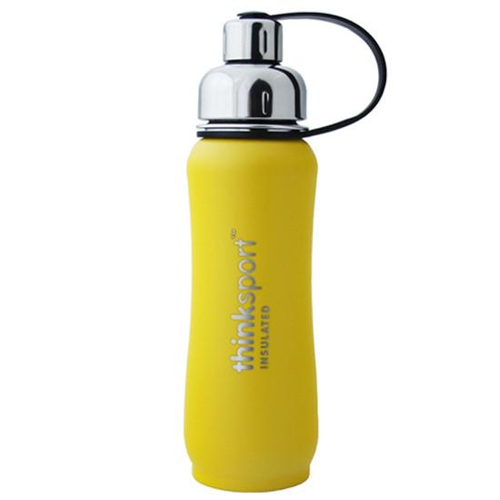 ThinkBaby thinksport Insulated Sports Bottle 17oz - Coated Yellow