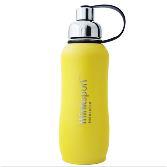 ThinkBaby thinksport Insulated Sports Bottle 25oz - Coated Yellow