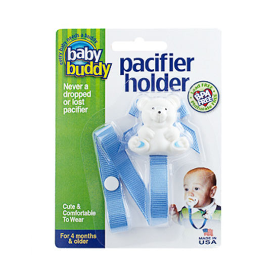 Baby Buddy Bear Pacifier Holder - Blue