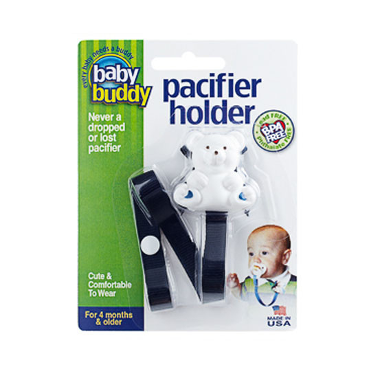 Baby Buddy Bear Pacifier Holder - Navy Product