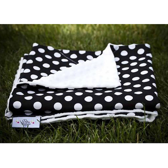 Baby Elephant Ears, Inc. Large Blankets - Black Dot