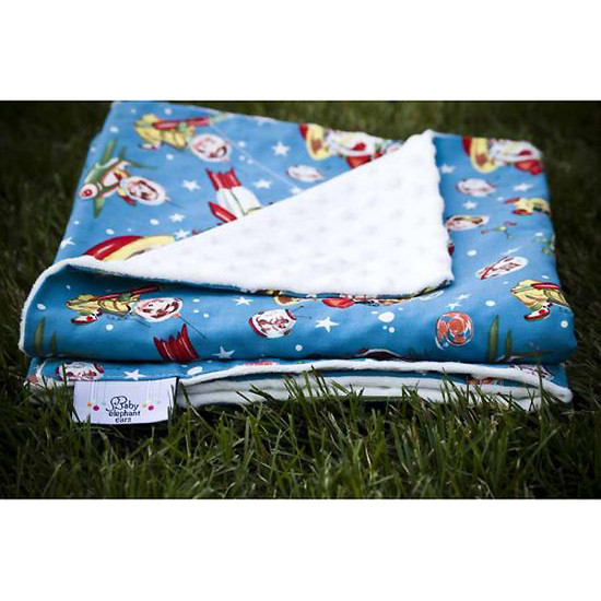 Baby Elephant Ears, Inc. Large Blankets - Retro Rockets