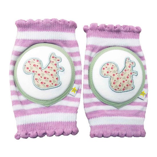 Crawlings Baby Knee Pad - Limited Edition Squirrel Mixed Berry