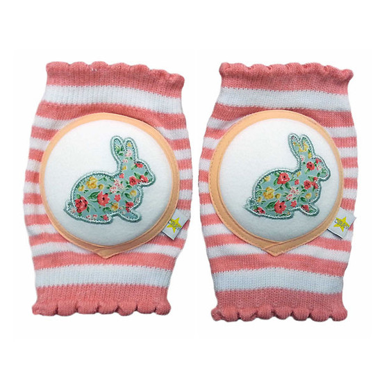 Crawlings Baby Knee Pad - Rabbit Cherry Pink