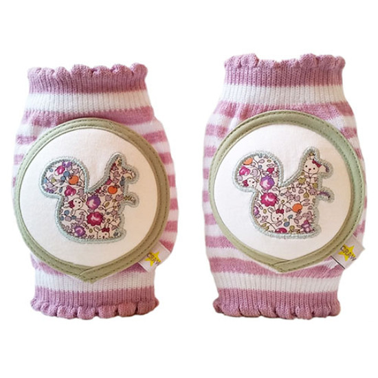 Crawlings Baby Knee Pad - Squirrel Mixed Berry