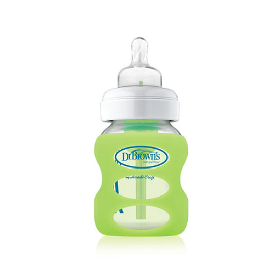 Dr. Brown Wide Neck Glass Bottle Sleeve 5 oz - Light Green Product
