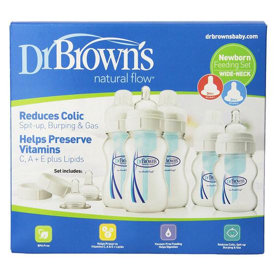 Dr. Brown Wide-Neck Bottle Newborn Feeding Set