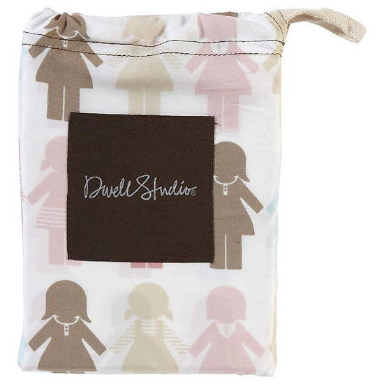 DwellStudio Paper Dolls Petal Fitted Crib Sheet