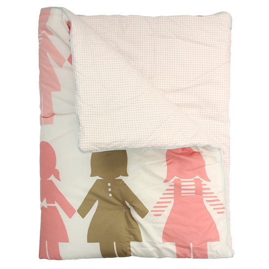 DwellStudio Paper Dolls Petal Play Blanket