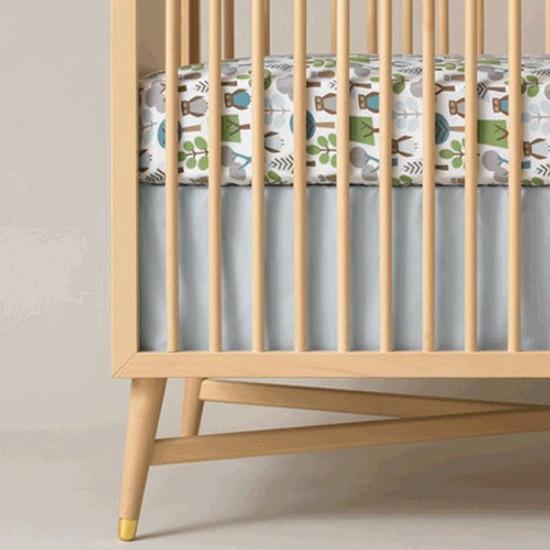 DwellStudio Solid Blue Crib Skirt Product