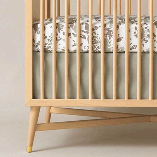 DwellStudio Solid Moss Crib Skirt Product