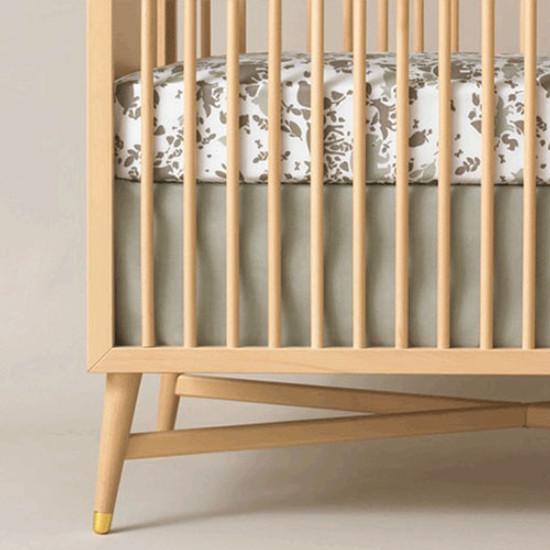 DwellStudio Solid Moss Crib Skirt