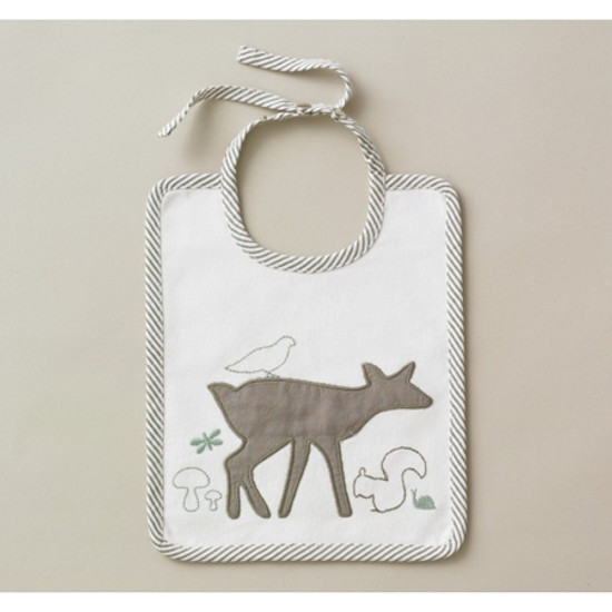 DwellStudio Woodland Tumble Embroidered Bib