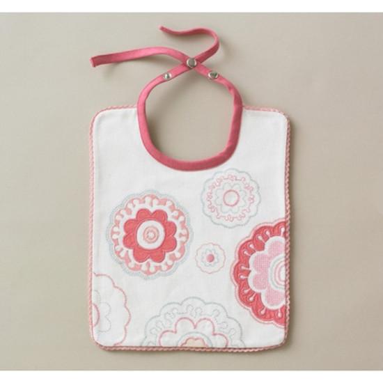 DwellStudio Zinnia Rose Embroidered Bib Product