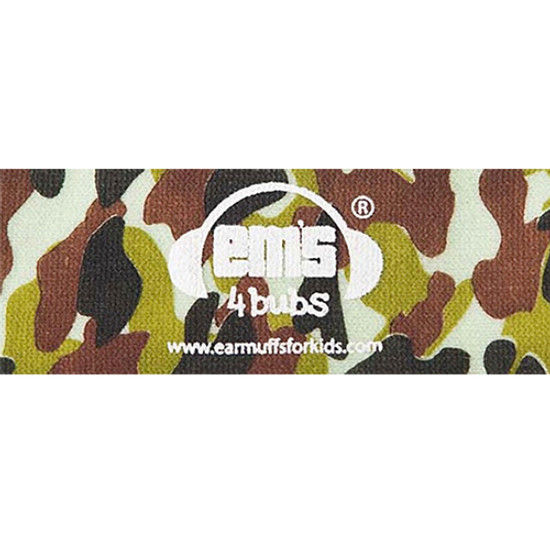EMS 4 KIDS Earmuffs for Bubs Adjustable Headband - Army Camo