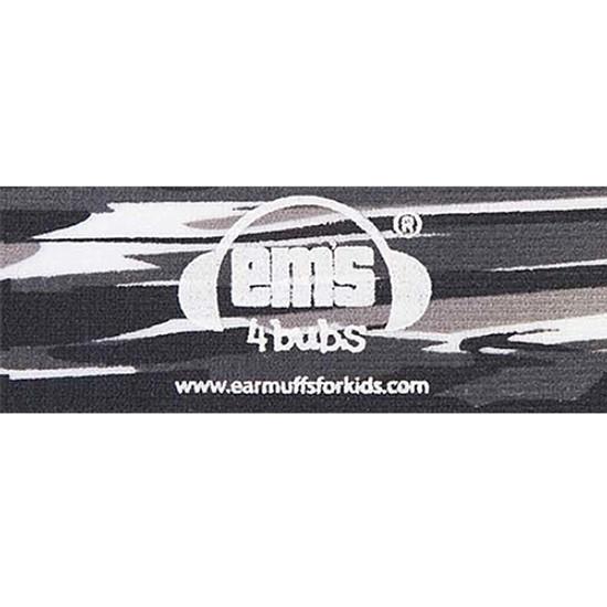 EMS 4 KIDS Earmuffs for Bubs Adjustable Headband - Black Oyster Pearl