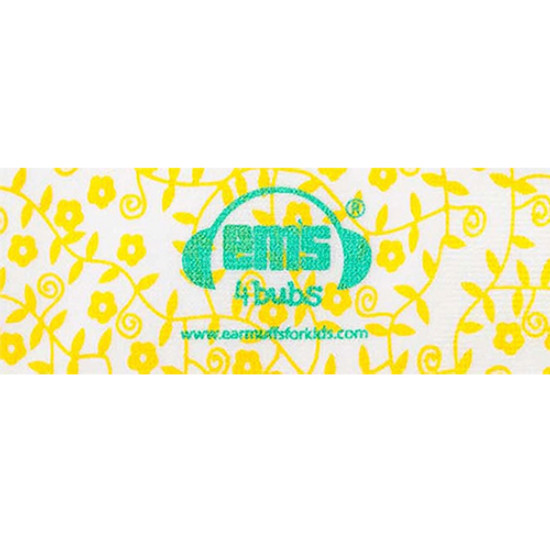 EMS 4 KIDS Earmuffs for Bubs Adjustable Headband - Lemon Floral