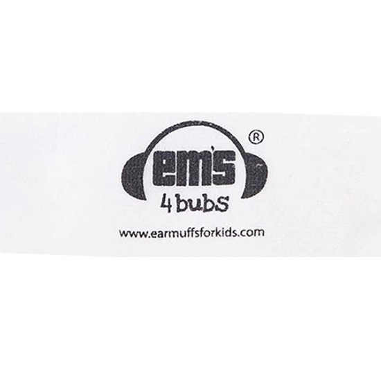 EMS 4 KIDS Earmuffs for Bubs Adjustable Headband - White