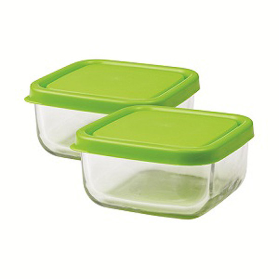 Innobaby The Glass Tot Food Cubes 2 pk - Green
