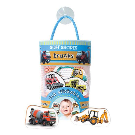 innovativeKids Soft Shapes Tub Stickables - Trucks